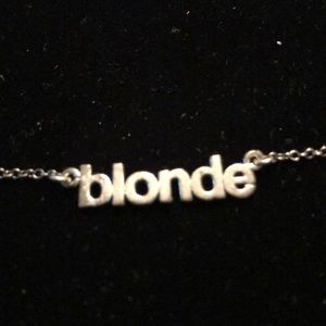 Lisbeth Blonde Silver Necklace